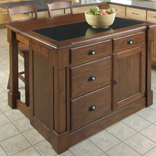 Aspen Kitchen Island with Granite Top