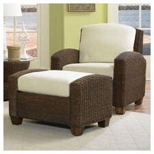 Cabana Banana Cotton Armchair and Ottoman