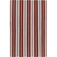 Farmhouse Stripes Red Rug