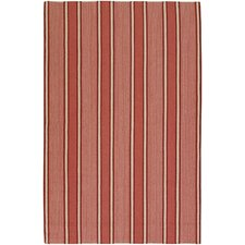 Farmhouse Stripes Coral Rug