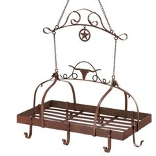 Lonestar Longhorn Kitchen Hanging Pot Rack