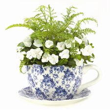 Floral Delight Teacup Planter