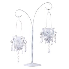 Crystal Droplets Dual Candle Holder