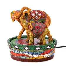 Elephant Mini Polyresin Tabletop Fountain