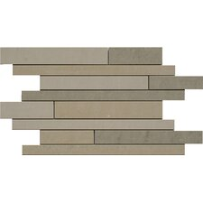 "SGT Random Strip Mosaics Dunes 18"" x 12"" Porcelain Polished Tile in Mix"