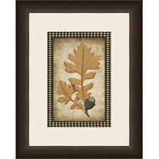 Houndstooth Leaves I Wall Art