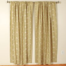 Palm Rod Pocket Curtain Single Panel