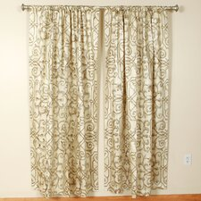 Ivory Rod Pocket Curtain Single Panel