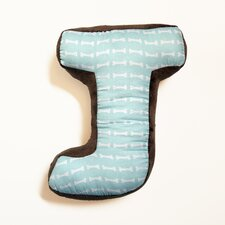 "Puppy Pal Boy Letter Pillow ""J"""
