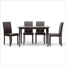 Baxton Studio Susan 5 Piece Dining Set