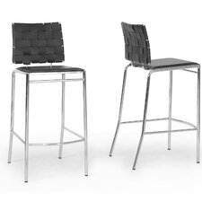 Baxton Studio Vittoria Bonded Leather Modern Barstool (Set of 2)