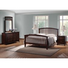 Baxton Studio Metropolitan King Slat Bedroom Collection