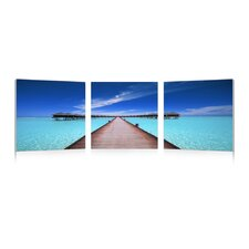 Baxton Studio Overwater Bungalow Mounted Photography Print