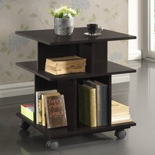 Baxton Studio Warren Wheeled Modern Storage Shelf