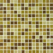 "Tesserae Blends 12-7/8"" x 12-7/8"" Glass Tile in Caramel Cream"
