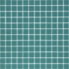 "Cristezza Classic 11-3/4"" x 11-3/4"" Glass Tile in Dark Teal"