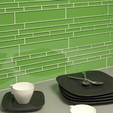 "Club 10-1/2"" x 9-1/2"" Cristezza Glass Tile in Mint Green"