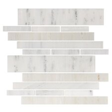 "Stone Club 10-1/2"" x 9-1/2"" Tile in White Marble"