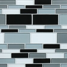 "California 10-1/2"" x 9-1/2"" Cristezza Glass Tile in Black Pepper"