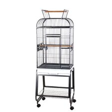 Opening Round Play Top Bird Cage and Stand
