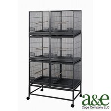 3 Level Cage with 3 Removable Dividers and 6 Units
