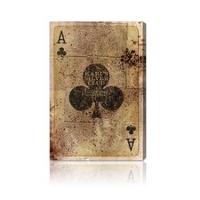 """Ace of Clubs"" Canvas Art Print"