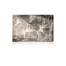 ''Horse Breaking Guide'' Canvas Wall Art