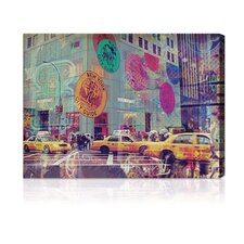 """NYC Fashion Taxi"" Canvas Art Print"