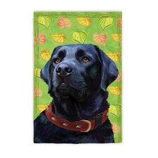 Black Lab Garden Flag
