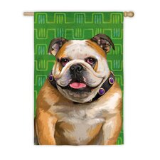 Bulldog Garden Flag