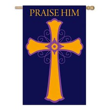 Praise Him Applique Garden Flag