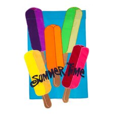 3D Popsicles Vertical 2-Sided Applique Flag