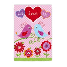 Love Birds Garden Flag