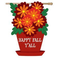 Floral Happy Fall Y'all Garden Flag
