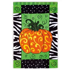 Pumpkin Whimsy Garden Flag