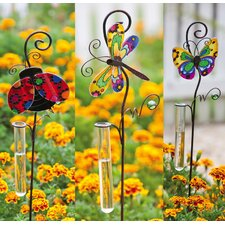Glittered Garden Rain Gauge Garden Stake (Set of 3)