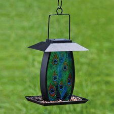 Peacock Grandeur Solar Bird Feeder