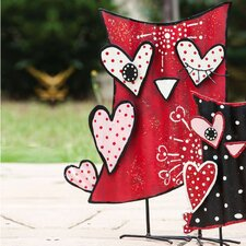 Valentine's Day Owl of Hearts Statue