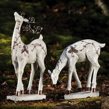 Nature's Promise Reindeer Statue (Set of 2)