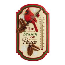 Holiday Cardinal Season of Peace Thermometer