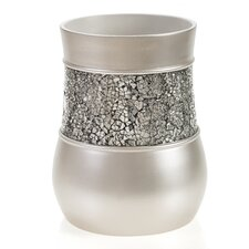 Brushed Nickel Wastebasket