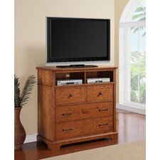 Oak Hill 4 Drawer Media Chest
