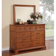 Oak Hill 9 Drawer Dresser