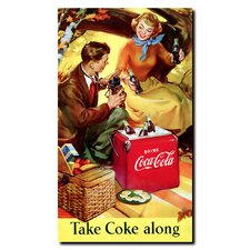 Coca Cola Take Coke Along Stretched Canvas Art