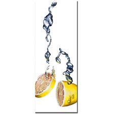 "Lemon Splash II by Roderick Stevens, Canvas Art - 32"" x 12"""