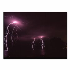 "Lake Lightning by Kurt Shaffer, Canvas Art - 14"" x 19"""