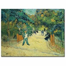 """Public Gardens in Arles,1888"" Canvas Art"