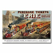 """Erie Railway Homesville"" Canvas Art"