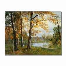 """A Quiet Lake"" Canvas Art"