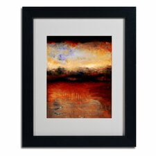 """Red Skies at Night"" Framed Art"